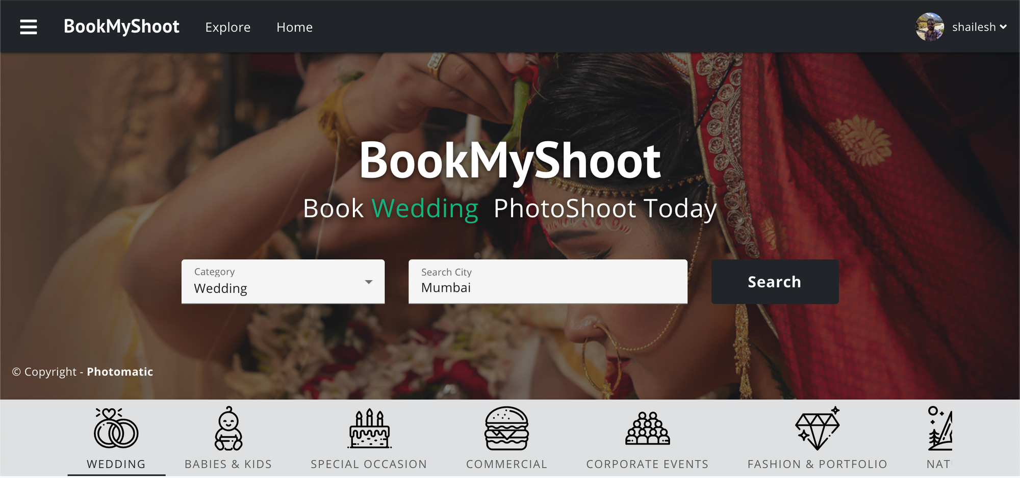 Welcome to BookMyShoot